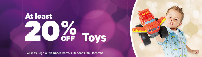 At least 25% Off Toys 2-5 December