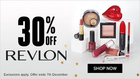 30% off Revlon. Offer ends 7th Dec