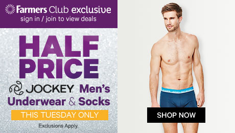 Half Price Men's Underwear & Socks by Jockey