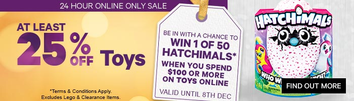 At least 25% Off Toys - Must End 12 December