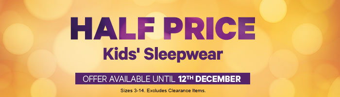 Half Price Kids' Sleepwear