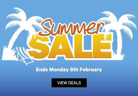 Summer Sale, Ends Monday 8th February