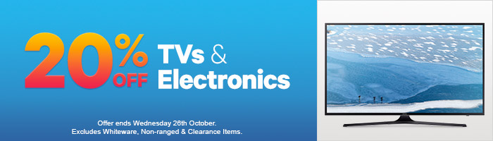 20% off TV's and Electronics