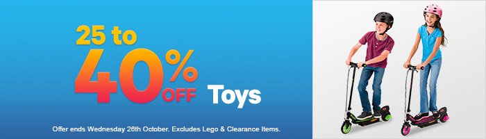 25-40% Off Toys 20-26 October