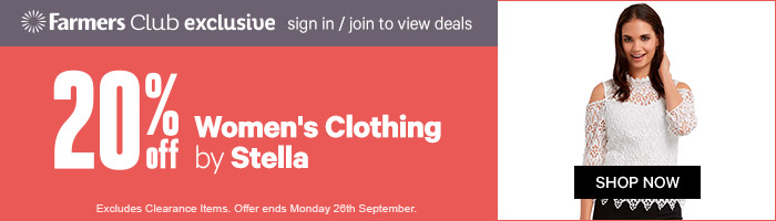 20% off Women's Clothing by Stella