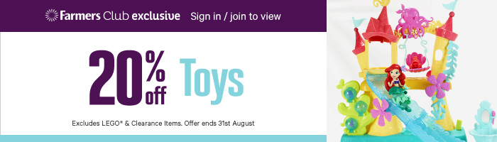 20% Off Toys, Excludes Lego & Clearance Items