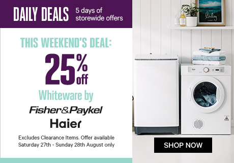 25% Off Whiteware by Fisher & Paykel and Haier