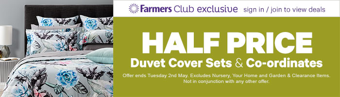 Half Price Duvet Cover Sets and Co-ordinates