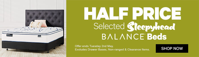 Half Price Selected Sleepyhead Balance Beds