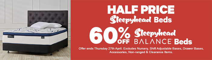 Half Price Sleepyhead Beds, 60% off Sleepyhead Balance Beds