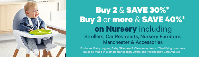 Buy Two And Save 30% On Nursery - Must End 23 August