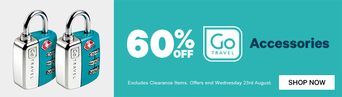 60% off Go Travel Accessories. Ends 23 August