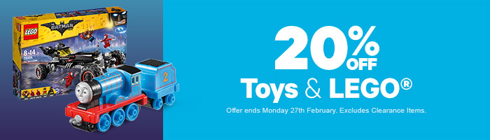 20% Off Toys & LEGO - Must End 27 February