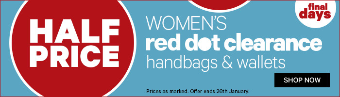 Half Price Women's Red Dot Clearance Handbags & Wallets