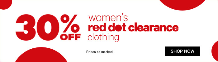 30% off women's red dot clearance clothing