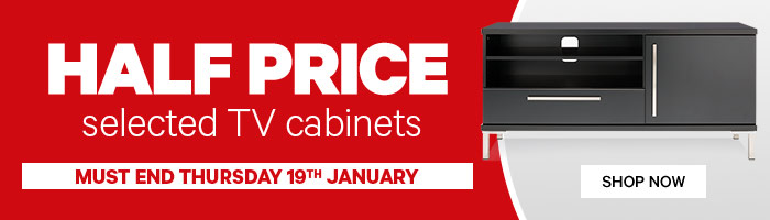 Half Price Selected TV Cabinets