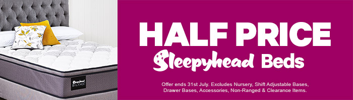 Half Price Sleepyhead Beds. Ends 31 July