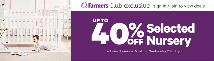 Up to 40% off Selected Nursery - Must End 26 July