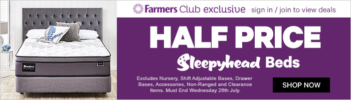 Half Price Sleepyhead. Ends 26 July