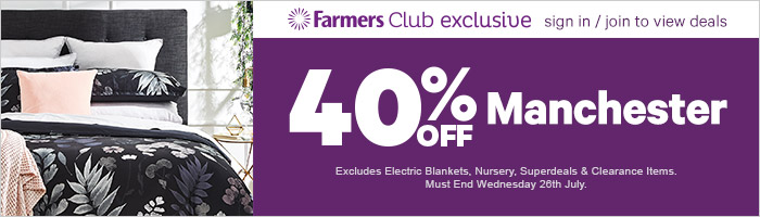 40% off manchester. Ends 26 July