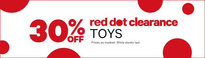 30% Off Toys - Red Dot Clearance