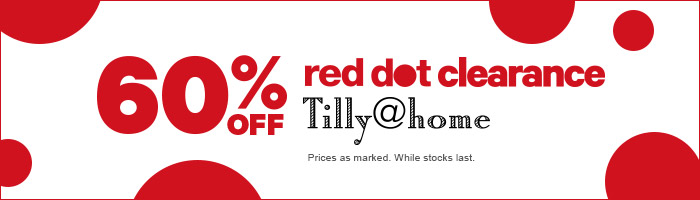 60% off red dot clearance Tilly@home