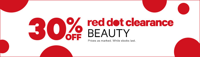 30% off Beauty Red Dot Clearance - Prices As Marked