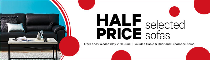 Half price selected sofas