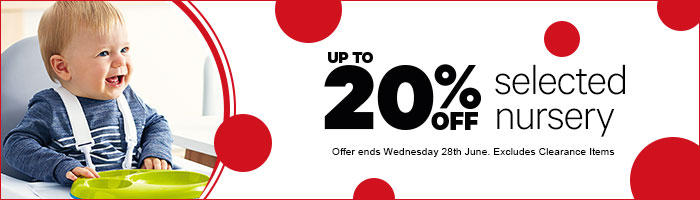 Up To 20% Off Nursery - Offer Ends Wednesday 28th June