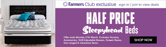 Half Price Sleepyhead Beds