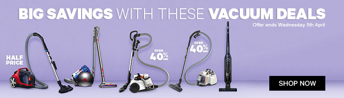Big Savings with these Vacuum Deals