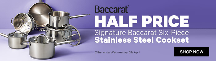 Baccarat Half Price Signature Baccarat Six-Piece Stainless Steel Cookset