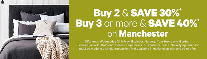 Buy 2 and save 30%, Buy 3 or more and save 40% on Manchester