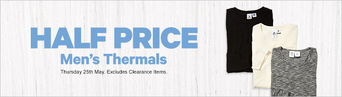 Half Price Men's Thermals
