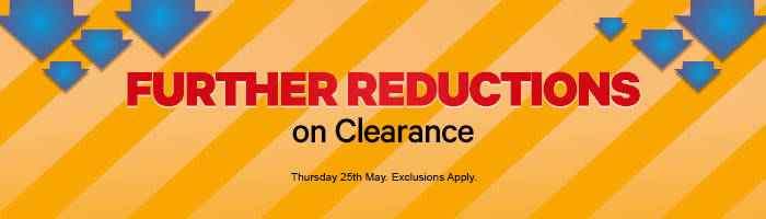 Further Reductions On Clearance - Must End Today!