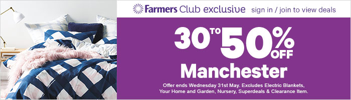 30% to 50% off Manchester