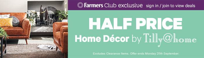 Half Price Home Decor by Tilly@home. Ends 25 Sep