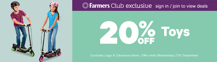 At least 20% Off Toys - Must End 27 September