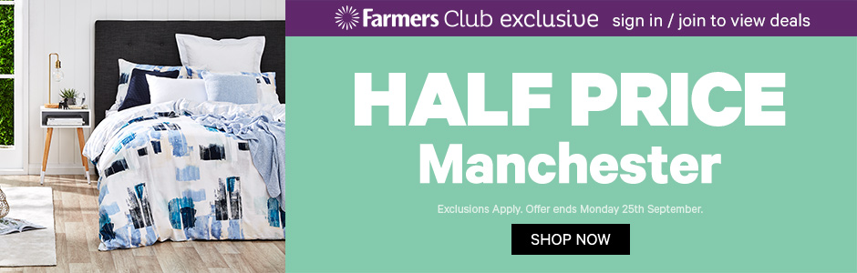 Half Price Manchester. Ends 25 September
