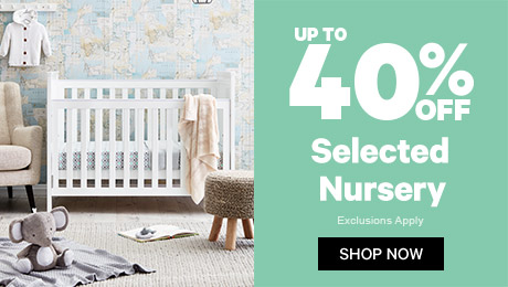 Up to 40% off selected Nursery