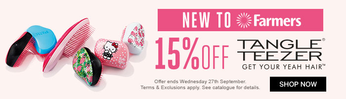 15% off tangle teezer