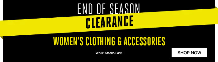 End of Season Clearance - While Stocks Last