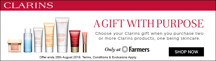 a gift with purpose, choose your clarins gift when you purchase two or more clarins products, one being skincare