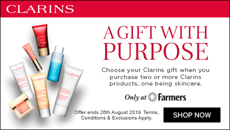 a gift with purpose. choose your clarins gift when you purchase two or more clarins products, one being skincare