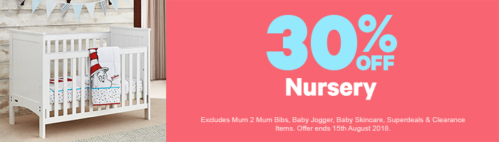 30% Off Nursery - Must end 15th August!