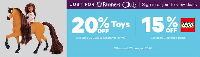 20% Off Toys & 15% Off LEGO - Must end 27th August