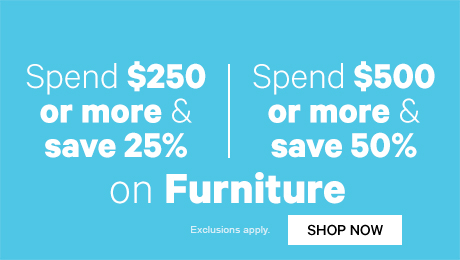 Spend $250 or more & save 25% off Furniture | Shop Now