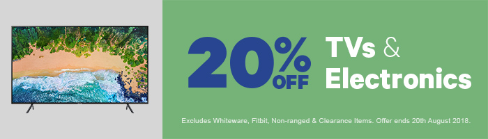 20% off TVs & Electronic