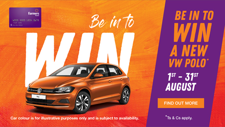Be in to win a new VW Polo