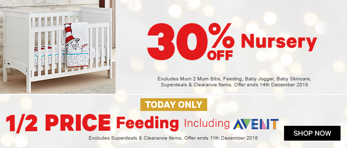 30% off Nursery, 1/2 Price Feeding including avent